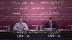 """Conferință de presă susținută de Sergiu Tofilat și Roman Guneavîi cu tema """"Investigație privind acțiunile ilegale în privința hotelului Național"""""""