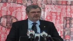 Conferința de presă susținută de Partidul Social Democrat