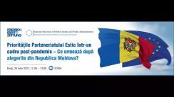"""Evenimentul online organizat de Fundația Friedrich-Ebert-Stiftung România și Departamentul de Relații Internaționale și Integrare Europeană SNSPA cu tema """"Prioritățile Parteneriatului Estic într-un cadru post-pandemic - Ce urmează după alegerile din Republica Moldova?"""""""