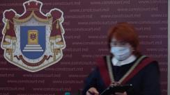 Briefing de presă susținut de Președintele Curții Constituționale a Republicii Moldova, Domnica Manole