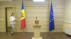Briefing de presă susținută de deputata fracțiunii parlamentare ACUM Platforma DA, Inga Grigoriu