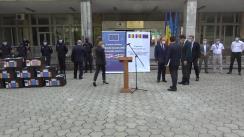 Ceremonia de recepționare a unui lot de vaccin împotriva COVID-19 donat de România