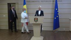 Briefing de presă susținut de deputații Partidului ȘOR după ședința Parlamentului Republicii Moldova din 26 iulie 2021