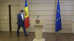 Briefing de presă susținut de deputatul PAS, Igor Grosu, după ședința Parlamentului Republicii Moldova din 26 iulie 2021