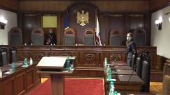 Ședința Curții Constituționale de examinare a sesizărilor referitoare la abrogarea Legii cu privire la transmiterea cu titlu oneros a Stadionului Republican în proprietatea Guvernului SUA