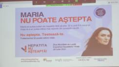 Conferință de presă ținută de Universitatea de Medicină și Farmacie Iași, dedicată lansării programului de testare a populației pentru hepatita virală