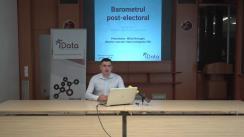 """Conferința de presă organizată de compania Date Inteligente SRL (iData) cu tema """"Barometrul Post-electoral"""""""