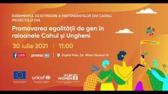 Evenimentul de extindere a parteneriatelor din cadrul proiectului EVA – Promovarea egalității de gen în raioanele Cahul și Ungheni