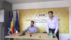 Conferință de presă susținută de co-președintele partidului AUR, Claudiu Târziu, la sediul AUR Iași