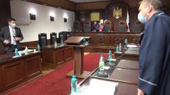 Ședința Curții Constituționale de examinare a sesizării nr. 52g/2021 privind excepția de neconstituționalitate a articolului 422 din Codul de procedură penală