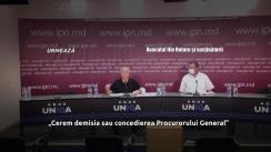 """Conferință de presă organizată de avocatul Ilie Rotaru și susținătorii cu tema """"Cerem demisia sau concedierea Procurorului General"""""""