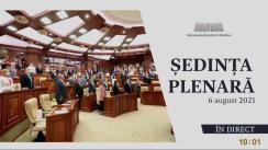 Ședința Parlamentului Republicii Moldova din 6 august 2021
