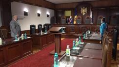 Ședința Curții Constituționale de examinare a sesizării nr. 39a/2021 privind controlul constituționalității articolului 129 punctul 19) din Codul fiscal