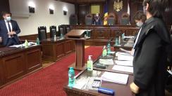 Ședința Curții Constituționale de examinare a sesizărilor nr. 208g/2020, nr. 44g/2021, 49g/2021 și 76g/2021 privind excepția de neconstituționalitate a unor prevederi din articolul 287 alin. (1) din Codul penal