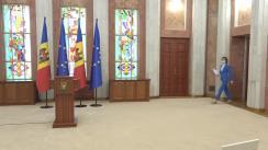 Briefing de presă susținut de Președintele Republicii Moldova, Maia Sandu, după ședința Consiliului Suprem de Securitate din 10 august 2021