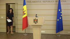 Briefing de presă al președintelui Comisiei juridice, numiri și imunități, Olesea Stamate, după ședința Comisiei juridice, numiri și imunități din 12 august 2021