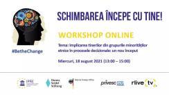 """Workshop organizat de Institutul pentru Politici și Reforme Europene în cadrul inițiativei #BeTheChange, cu tema """"Implicarea tinerilor din grupurile minorităților etnice în procesele decizionale: un nou început"""""""