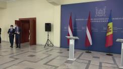 Declarații de presă susținute de Ministrul Afacerilor Externe și Integrării Europene al Republicii Moldova, Nicu Popescu, și Ministrul Afacerilor Externe al Letoniei, Edgars Rinkēvičs
