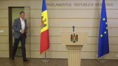"""Briefing de presă susținut de deputatul fracțiunii parlamentare a Partidului """"ȘOR"""", Denis Ulanov, privind lansarea unei inițiative legislative de interes public"""