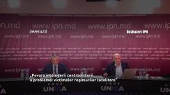 """Dezbaterea publică organizată de Agenția de presă IPN la tema """"Povara înțelegerii contradictorii a problemei victimelor regimurilor totalitare"""""""