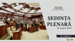 Ședința Parlamentului Republicii Moldova din 20 august 2021