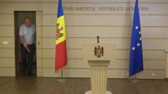 Briefing de presă susținut de deputatul Blocului Comuniștilor și Socialiștilor, Vasile Bolea