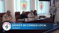 Ședința ordinară a Consiliului Local Sector 5 din 18 august 2021