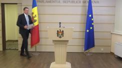 """Briefing de presă susținut de deputatul fracțiunii parlamentare a Partidului """"ȘOR"""", Denis Ulanov, privind lansarea unei inițiative legislative"""