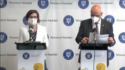 Conferință de presă susținută de Ministrul Sănătății, Ioana Mihăilă, și secretarul de stat în Ministerul Afacerilor Interne, Raed Arafat, pe tema pregătirilor pentru valul 4 al pandemiei de COVID-19