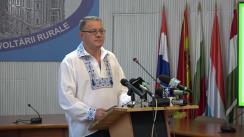 Conferință de presă susținută de Ministerul Agriculturii și Dezvoltării Rurale, Adrian Oros
