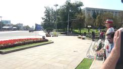 Ceremonia de depunere a florilor la monumentul lui Ștefan cel Mare și Sfânt cu ocazia celei de-a 30-a aniversări a Independenței Republicii Moldova