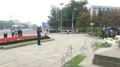 Reprezentanții Primăriei municipiului Chișinău, depun flori la monumentul lui Ștefan cel Mare și Sfânt, cu prilejul Zilei Independenței Republicii Moldova