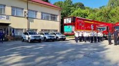 Ceremonia de bun venit a pompierilor români de la stingerea incendiilor din Grecia