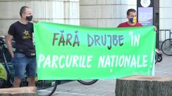 Acțiune de protest in fața Ministerului Mediului, Apelor și Pădurilor, pentru interzicerea exploatărilor forestiere în parcurile naționale