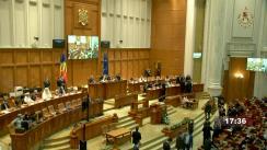 Ședința solemnă comună a Camerei Deputaților și Senatului consacrată primirii mesajului domnului Igor Grosu, președintele Parlamentului Republicii Moldova, cu ocazia deschiderii celei de-a doua sesiuni parlamentare din anul 2021