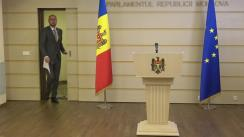 Conferință de presă susținută de deputatul Partidului Acțiune și Solidaritate, Sergiu Litvinenco