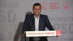 Conferință de presă susținută de Prim-vicepreședintele PSD, deputatul Sorin Grindeanu