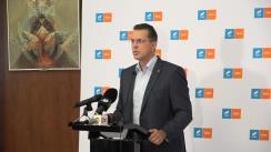 Declarații de presă susținute de deputatul Ionuț Moșteanu, liderul de grup al deputatilor USR PLUS