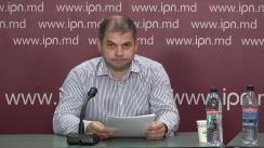 """Conferință de presă organizată de Iurie Calestru, IDEP Moldova, cu tema """"Absorbție sporită a fondurilor europene, direct către cetățeni utilizând semnătura electronică, utilizând Programul ECIPES"""""""