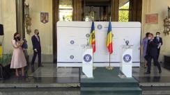 Conferință de presă susținută de Ministrul Afacerilor Externe al României, Bogdan Aurescu, și Ministrul Afacerilor Externe și Integrării Europene al Republicii Moldova, Nicu Popescu
