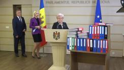 """Briefing de presă susținut de deputații fracțiunii parlamentare a Partidului """"ȘOR"""" privind lansarea unei inițiative legislative"""