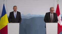 Declarații comune de presă susținute de Președintele României, Klaus Iohannis, și Președintele Confederației Elvețiene, Guy Parmelin