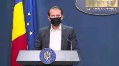 Conferință de presă după ședința Guvernului României din 9 septembrie 2021