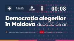 """Evenimentul organizat de CEC, CICDE, PNUD Moldova, cu suportul USAID Moldova, cu tema """"Democrația alegerilor în Moldova după 30 de ani"""""""