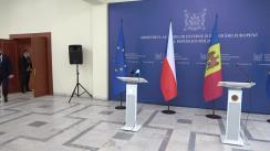 Conferință de presă susținută de Ministrul Afacerilor Externe și Integrării Europene al Republicii Moldova, Nicu Popescu, și Ministrul Afacerilor Externe al Cehiei, Jakub Kulhánek