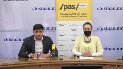 """Conferință de presă organizată de Fracțiunea PAS din CMC cu tema """"Moratoriul lui Ion Ceban, un populism contradictoriu"""""""