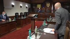 Ședința Curții Constituționale de examinare a sesizării nr. 196e/2021 privind validarea unui mandat de deputat în Parlamentul Republicii Moldova