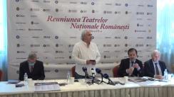 Conferința de presă privind Reuniunea Teatrelor Naționale Românești la Chișinău, ediția a VI-a