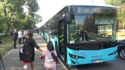 Evenimentul de lansare pe rute a 5 autobuze noi ISUZU din cele 100 achiziționate recent de municipiul Chișinău