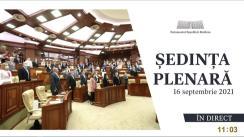 Ședința Parlamentului Republicii Moldova din 16 septembrie 2021